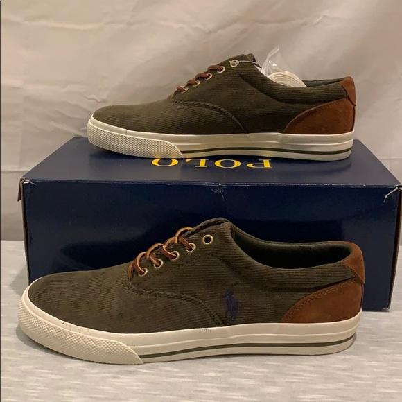 42938fbb51 Ralph Lauren Polo Vaughn Suede Corduroy Sneakers NWT